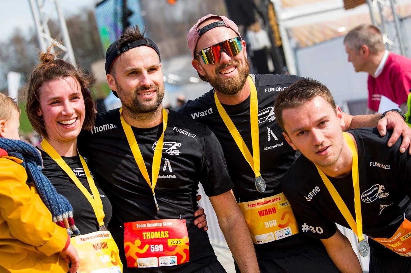 Team Running Store loopt 100km voor Kom op tegen Kanker